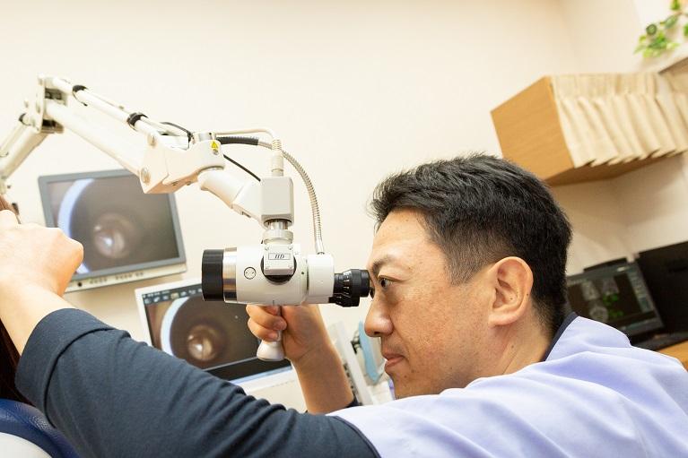 滲出性中耳炎の診断と検査